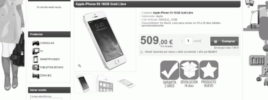 Apple iPhone 5S 16GB Gold Libre