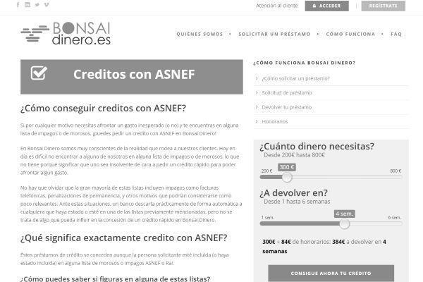 creditos con asnef